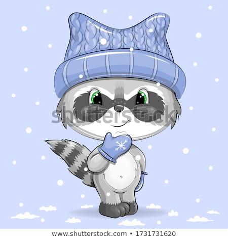 Rajz aranyos firkák új év illusztráció vicces Stock fotó © balabolka