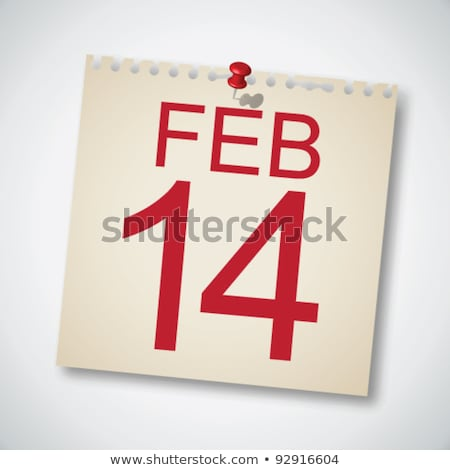 wedding day on calendar page sign vector icon stock photo © pikepicture