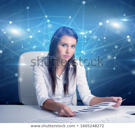 Manager in front of the office desk with link concept Stock photo © ra2studio