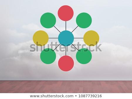 Colorful mind map over room background Stock photo © wavebreak_media
