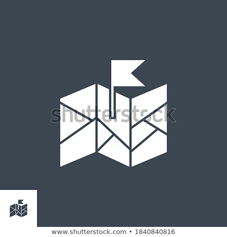 flag related vector glyph icon stock photo © smoki