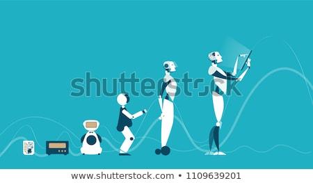 Evolutie robotica ingesteld robots generaties Stockfoto © jossdiim
