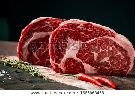 raw ribs meat Stock photo © tycoon