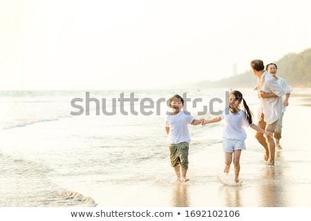 ストックフォト: 少年 · 子供 · 夏場 · 日没