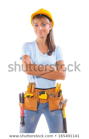 Kobiet stolarz stałego domu usługi Zdjęcia stock © wavebreak_media