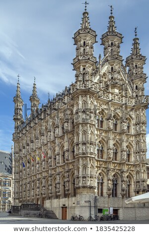 Hoofd- markt vierkante België stadhuis hemel Stockfoto © borisb17