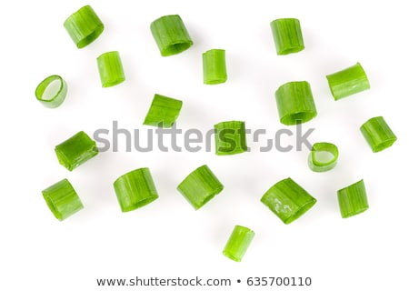 close up of a sliced spring onion stock photo © lichtmeister