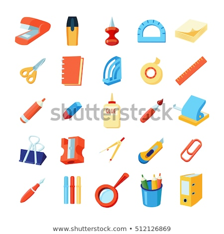 Puncher Stationery Equipment Color Vector Stock photo © pikepicture