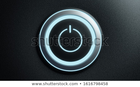 Power off-on button icon - launch push button, starter metal kno Stock photo © Winner