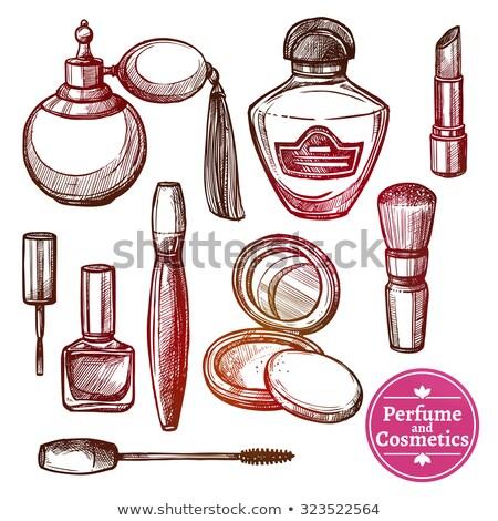 Ensemble parfum bouteilles silhouettes vecteur Photo stock © Margolana
