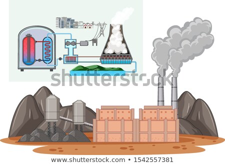 Diagram showing energy used in factory Stock photo © bluering