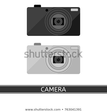 Fotó kamera digitális szerkentyű szín vektor Stock fotó © pikepicture