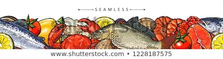 Vermelho caviar sem costura vetor padrão Foto stock © yopixart