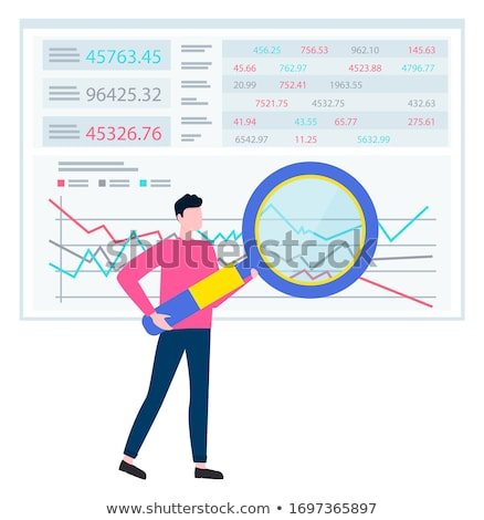 Graph Report, Counting Finance, Worker Vector Stock photo © robuart