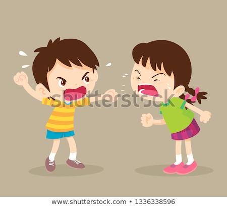 Girl Irritated Illustration Stock photo © lenm