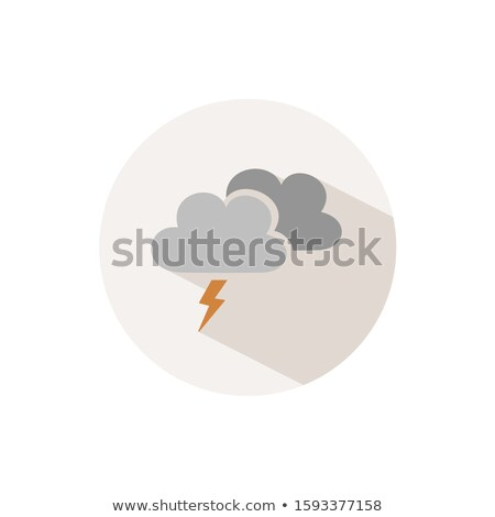 Storm. Icon with shadow on a beige circle. Fall vector illustration Stock photo © Imaagio