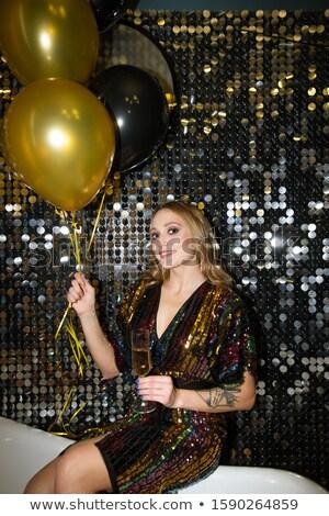 счастливым молодые женщину флейта шампанского Сток-фото © pressmaster
