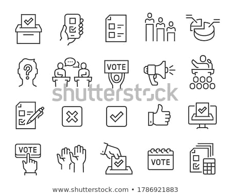 Debat icon vector schets illustratie Stockfoto © pikepicture