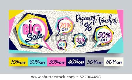 Groß Verkauf Förderung Label Anzeige Geschäften Stock foto © robuart
