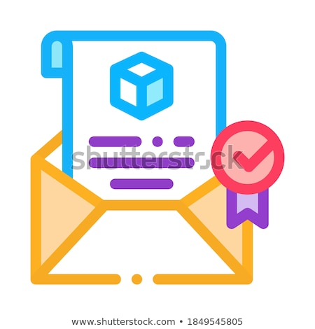 parcel notification letter icon vector outline illustration Stock photo © pikepicture
