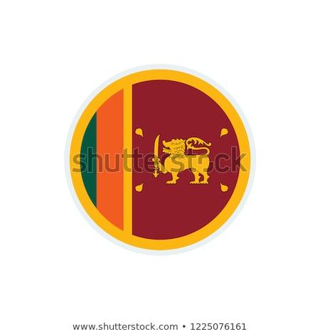 Sri Lanka zászló fehér keret felirat utazás Stock fotó © butenkow
