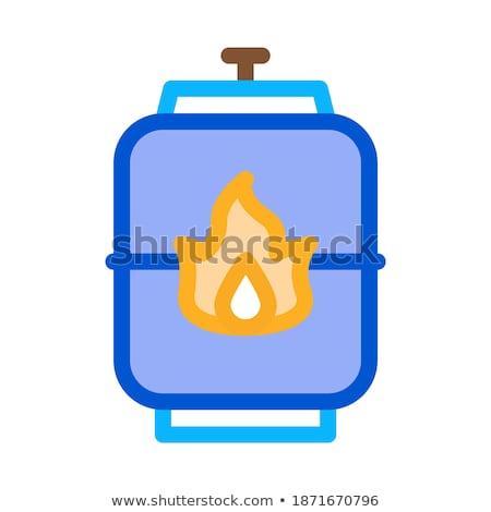 взрывной газ цистерна икона вектора Сток-фото © pikepicture