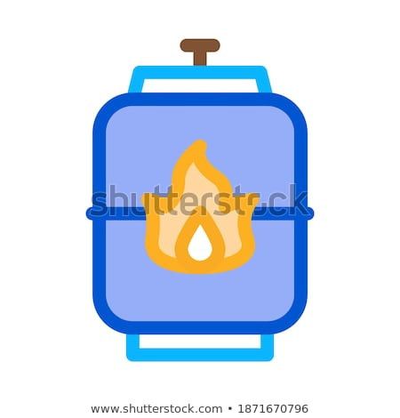 Explosief gas tank icon vector schets Stockfoto © pikepicture