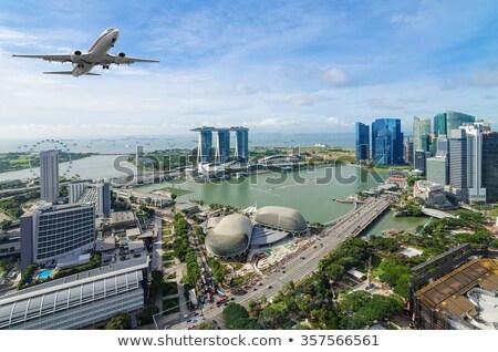 飛行機 シンガポール 空港 夏 日 空 ストックフォト © bloodua