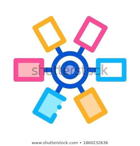 Cores cartucho ícone vetor ilustração Foto stock © pikepicture