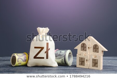 Сток-фото: House And Polish Zloty Money Bag Building Maintenance Calculation Of Expenses For Purchase Constr