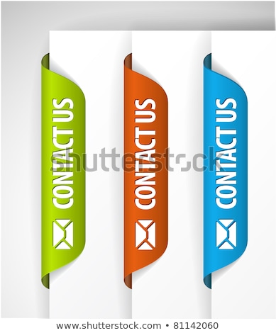 Stock photo: Contact Us Labels / Stickers on the edge of the (web) page