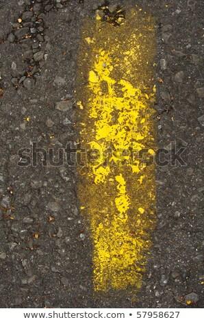 黄色 グランジ 塗料 顔料 ストライプ 具体的な ストックフォト © Melvin07
