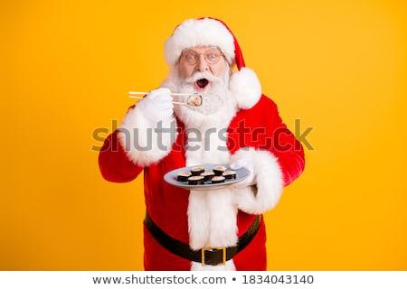 kerstman · bel · geïsoleerd · witte · christmas · nieuwjaar - stockfoto © sahua