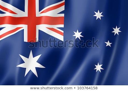 オーストラリア人 · フラグ · 3dのレンダリング · 反射 - ストックフォト © nicemonkey