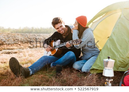 Young couple camping in tent Stock photo © photography33