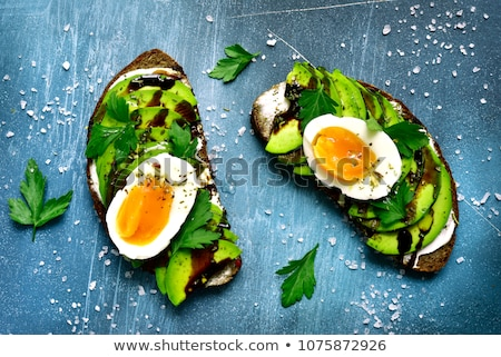 canape with egg stock photo © joker