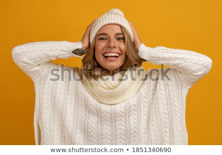 eenvoudige · jonge · vrouw · gezicht · glimlachend · optimistisch · meisje - stockfoto © yurok