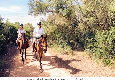 man and woman horse riding Stock photo © photography33