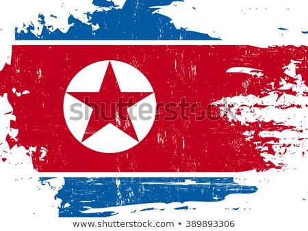 na · północ · banderą · grunge · ilustracja · czerwony - zdjęcia stock © hypnocreative