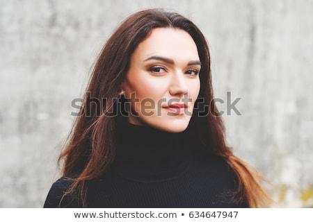 Nő hegyorom ruha vonzó kövek forró Stock fotó © marylooo