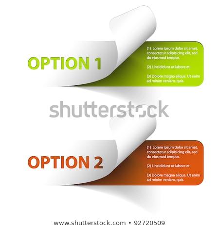 Ayarlamak renkli vektör örnek seçenek Stok fotoğraf © orson