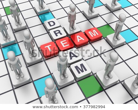 dream team - letters and cubes Stock photo © marinini