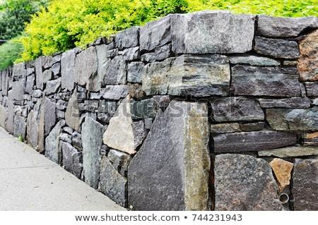 dry masonry wall detail Stock photo © prill