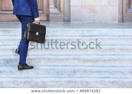 Handsome commuter with briefcase Stock photo © photography33