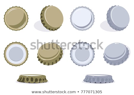 Bottle cap set in red and gold Stock photo © gladiolus