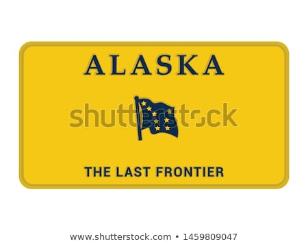 State of Alaska license plate Stock photo © TTC
