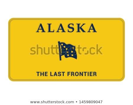 Alaska · placa · placa · propio · texto - foto stock © TTC