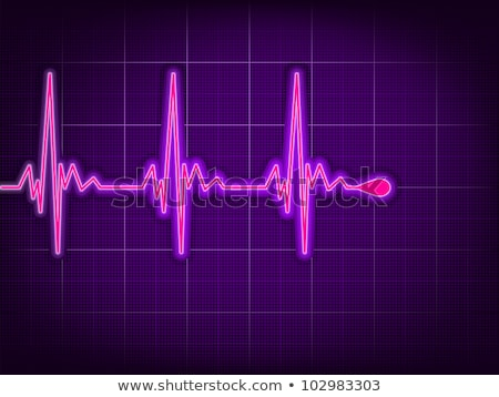 Heart cardiogram on it deep purple. EPS 8 Stock photo © beholdereye