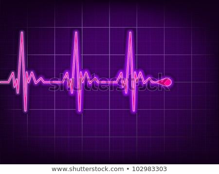 corazón · pulso · supervisar · verde · red · medicina - foto stock © beholdereye