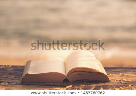 ouro · bíblia · macro · foto · âmbar · colar - foto stock © yul30